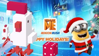 Despicable Me: Minion Santa Claus Crossy Road Endless Arcade Festive Chicken