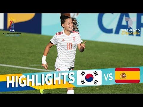 República de Corea vs. España: 0-4 Goals & Highlights | Mundial Femenina Sub-17 | Telemundo Deportes