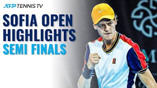 Sinner vs Krajinovic & Giron vs Monfils | Sofia Open 2021 Semi Final Highlights