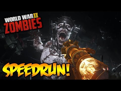 WW2 ZOMBIES - CASUAL EASTER EGG WORLD RECORD SPEEDRUNS! (Call of Duty WW2 Zombies)