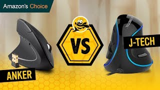 Anker Wireless Vertical Mouse vs J-Tech Digital Wired Ergonomic USB Mouse