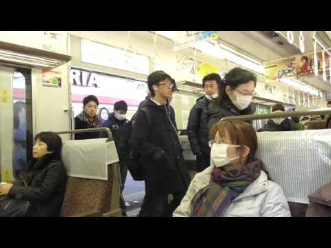 from Osaka station to Tennoji station on Osaka Loop LINE 2 大阪駅→天王寺駅