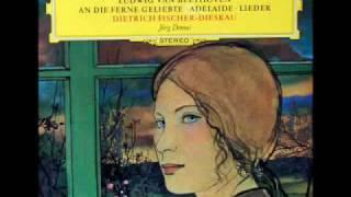 """Dietrich fischer-dieskau, baritone; jörg demus, piano. from the deutsche grammophon lp, """"ludwig van beethoven: an die ferne geliebte - adelaide lieder,"""" se..."""