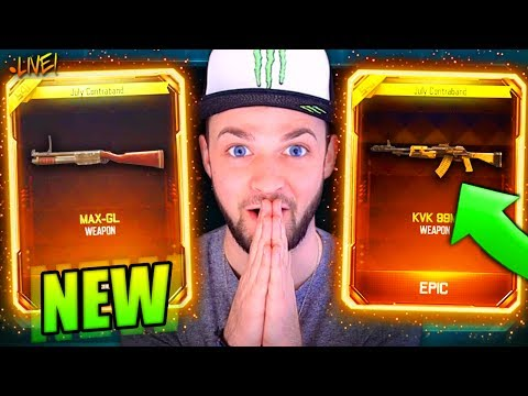 NEW *DLC* GUNS - HUGE $$$ SUPPLY DROP STREAM! - Black Ops 3
