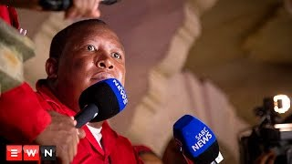 EFF leader Julius Malema addressed journalists after the party's dramatic exit from Parliament during the State of the Nation Address on 11 February 2016.  Click here to subscribe to Eyewitness news: http://bit.ly/EWNSubscribe  Like and follow us on: http://bit.ly/EWNFacebook AND https://twitter.com/ewnupdates  Keep up to date with all your local and international news: http://ewn.co.za  Produced by: Aletta Harrison