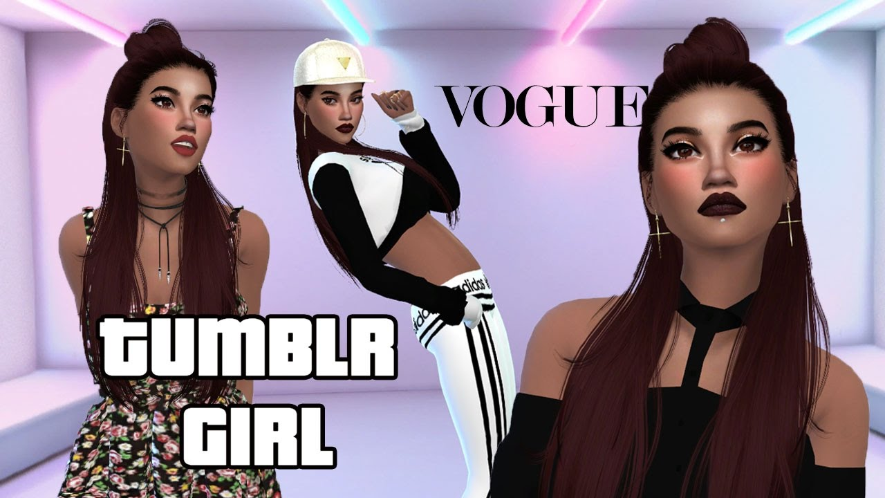 The Sims 4 II CAS - Mody II Tumblr Girl Look II 💋 Latynoski temperament 💋