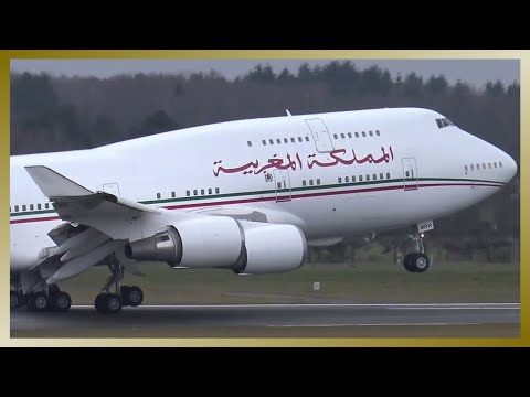 Morocco Government VIP Boeing 747 departing Hamburg Airport