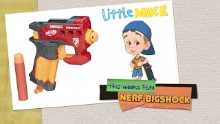 NERF MEGA SHOCK | Little Mike Fun