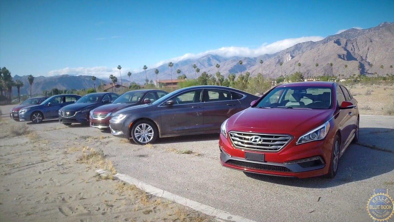 2015 Midsize Sedan Comparison - Kelley Blue Book - YouTube