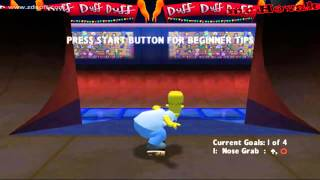 The Simpsons Skateboarding Playstation 2 gameplay