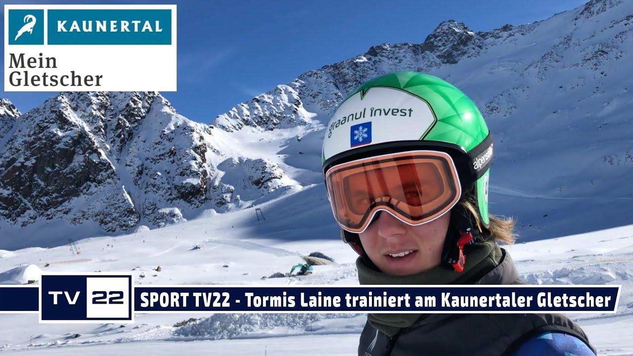 SPORT TV22: Tormis Laine Skifahrer aus Estland trainiert am Kaunertaler Gletscher