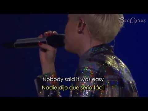 Miley Cyrus  The Scientist   LYRICS + TRADUCCIÓN ESPAÑOL