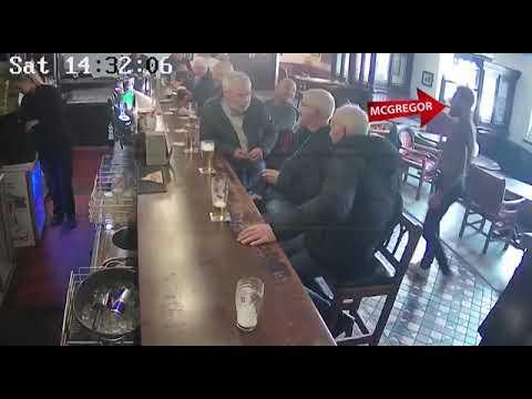 Конор МакГрегор ударил старика в баре.