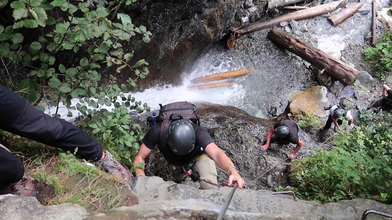 Klettersteig Röbischlucht beim BergePLUS Programm erleben | Montafon