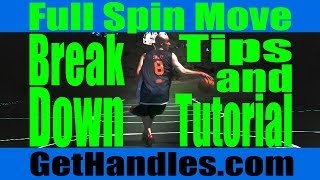 How to spin move tutorial | basketball tips, footwork & slow motion
