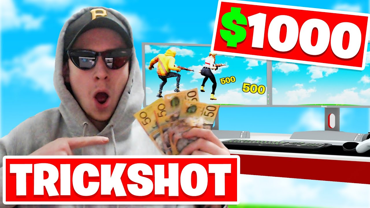 First to hit a TRICKSHOT in FORTNITE wins $1000 (insane)