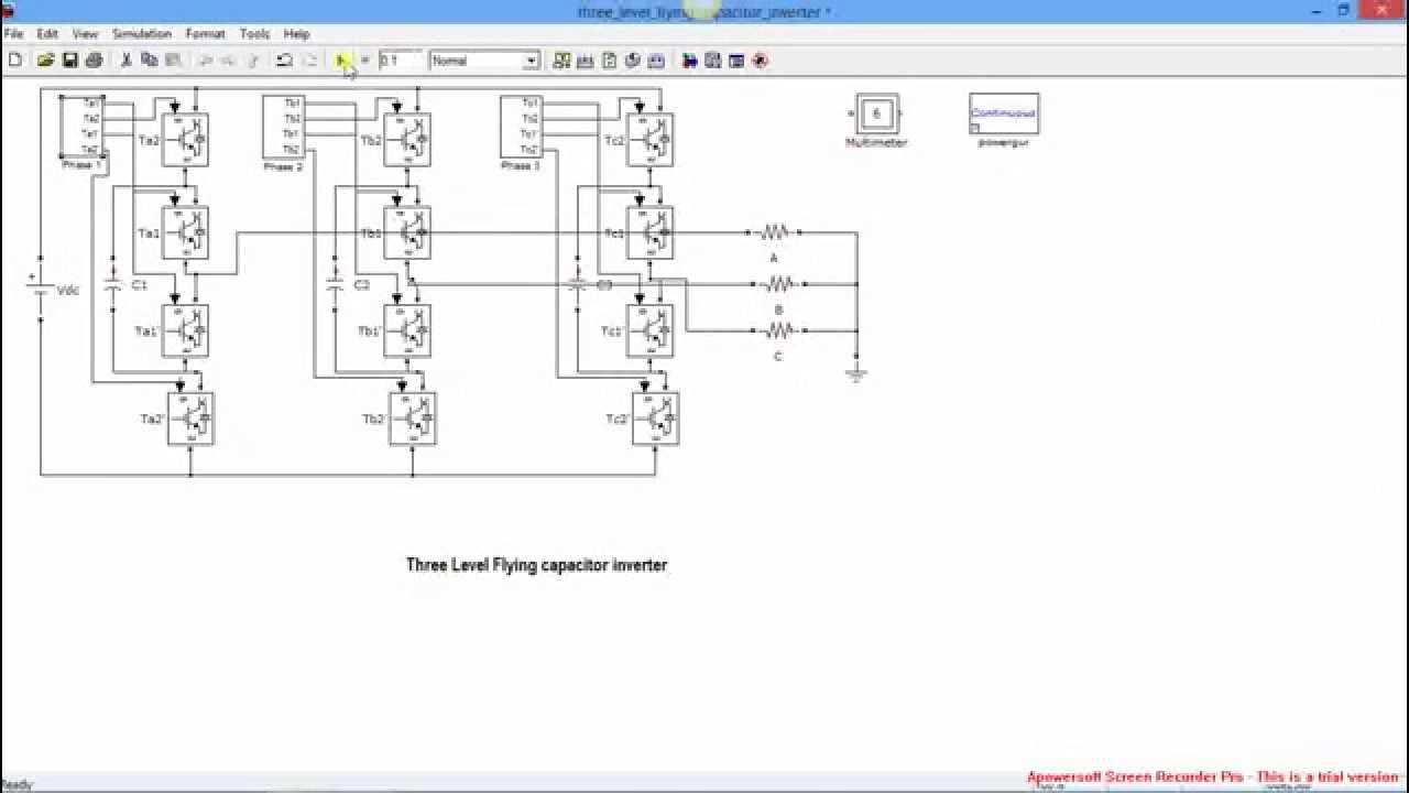 Three Phase flying capacitor inverter - YouTube