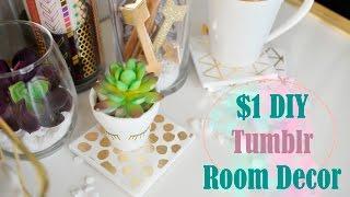Dollar Tree DIY: GOLD DECOR  (YOU GOTTA TRY!) Tumblr Office/Room