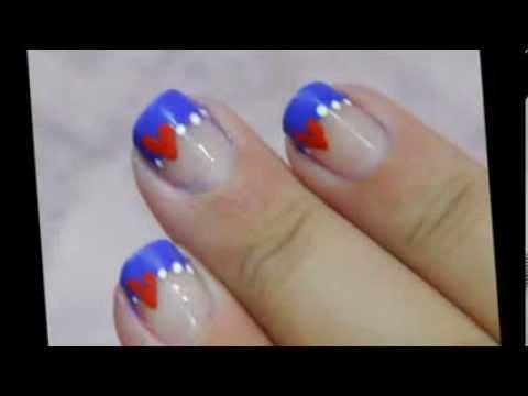 simple  elegant valentines nail art  youtube