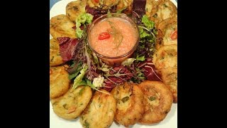 Potatoe Burgers & Hot Tomatoe Sauce