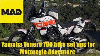 Yamaha Tenere 700 -  Bike Set Up for Motorcycle Adventure