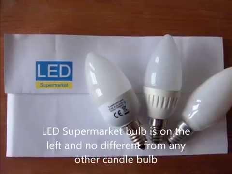 LED Light Bulb Reveiw - E14 candle LED Bulb