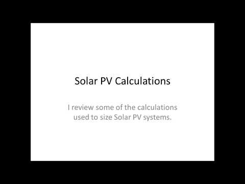 Solar PV Calculations for Series and Parallel Circuits
