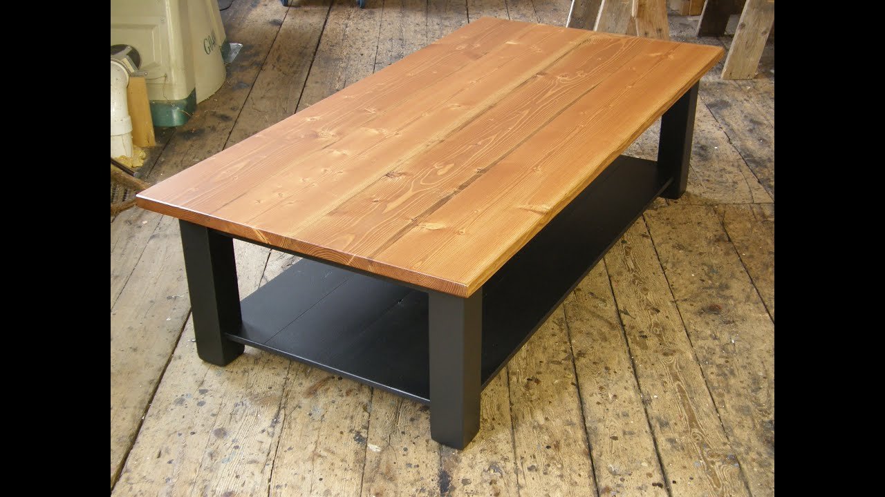 Coffee table with a shelf youtube Table making ideas