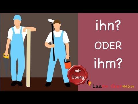Learn German | German Grammar | ihn oder ihm? | A1 | A2