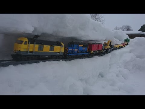Thumbnail: Lego trains and snow