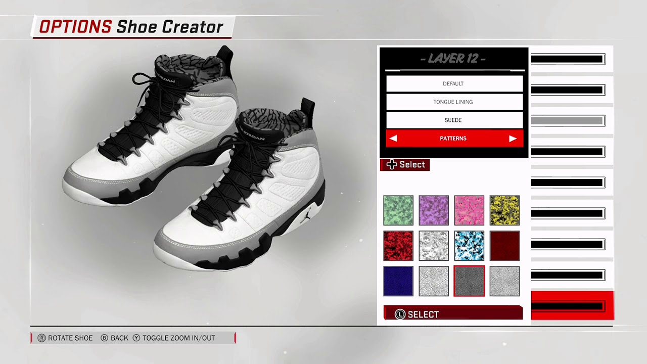 NBA 2K18 Shoe Creator Air Jordan 9