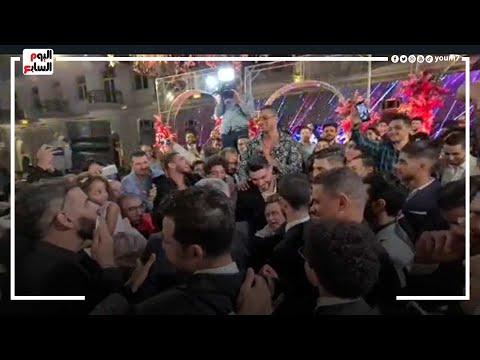 حسن شاكوش يطلب من وائل جمعة ومروان محسن الغناء.. شوف رد فعلهم.  - نشر قبل 11 ساعة