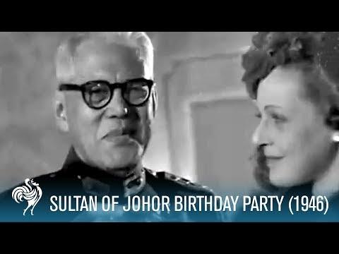 Sultan Of Johor Birthday Party (1946)   British Pathé
