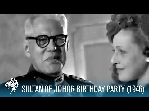 Sultan Of Johor Birthday Party (1946) | British Pathé