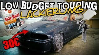 Auto lackieren für 30€!? | Low Budget Touring | Komplettes Fahrzeug | Baumarkt | E36