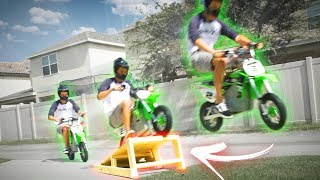 MEGA RAMPA vs MINI MOTO ( insano! )