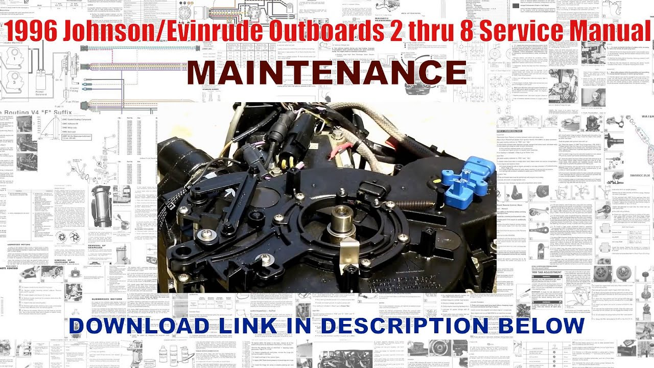 1996 Johnson Outboard Service Manual One Word Quickstart Guide Book Evinrude Wiring Diagram Outboards 2 Thru 8 Youtube Rh Com Diagrams 50hp