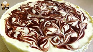 NO BAKE CHOCOLATE SWIRL CHEESECAKE RECIPE