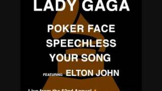 Lady Gaga (feat. Elton John) - Live at the 52nd Grammy Awards (HQ STUDIO VERSION)