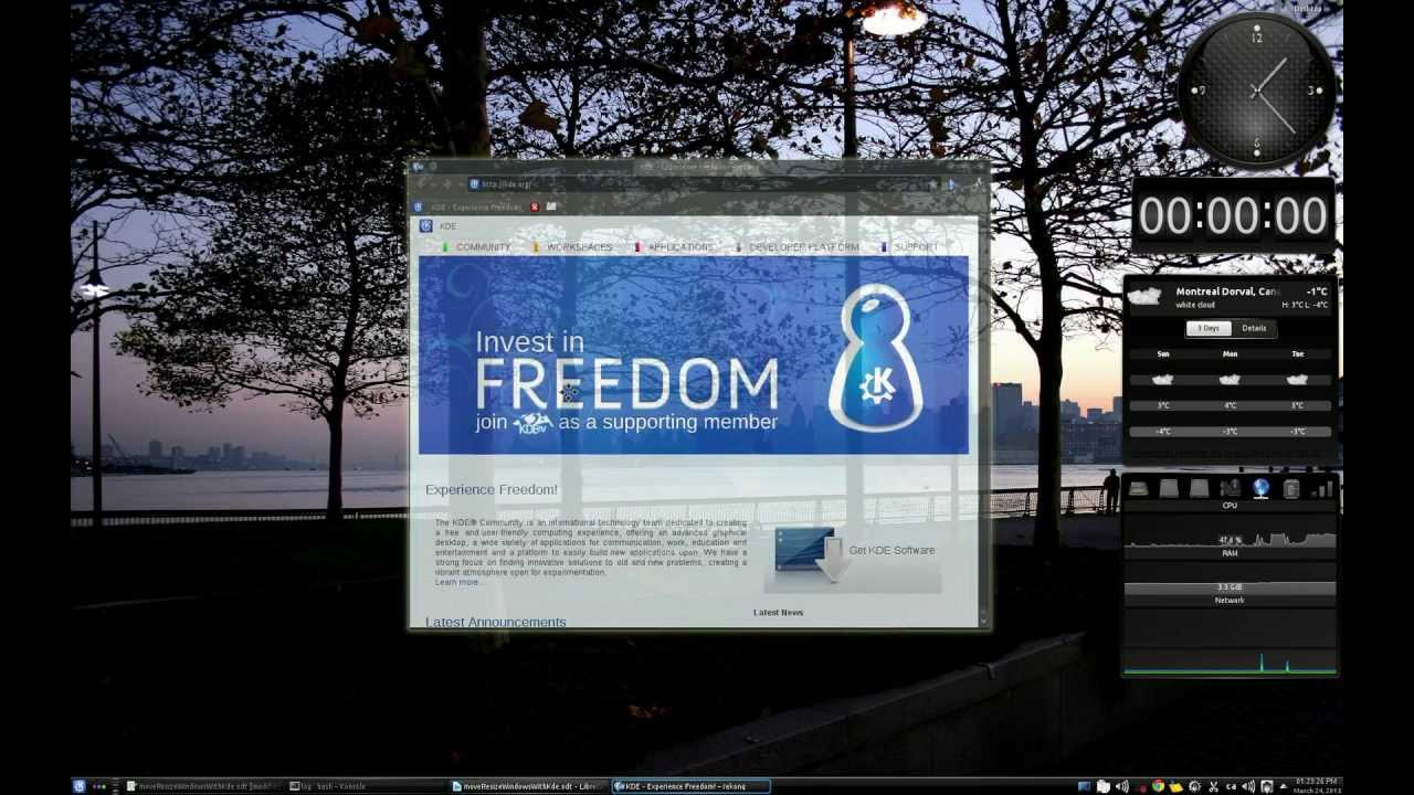 kde resize window keyboard