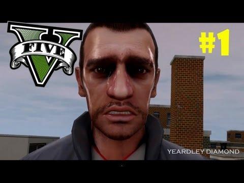 Нико Беллик посмотрел видео геймплея GTA 5 #1