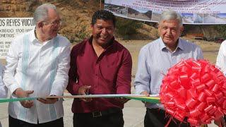 Inauguración del camino rural Santos Reyes Yucuná y diálogo con el pueblo mixteco, desde Oaxaca