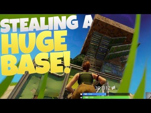 Stealing a HUGE BASE! - PS4 Fortnite Battle Royale LIVE #10! - (PS4 Fortnite Gameplay)