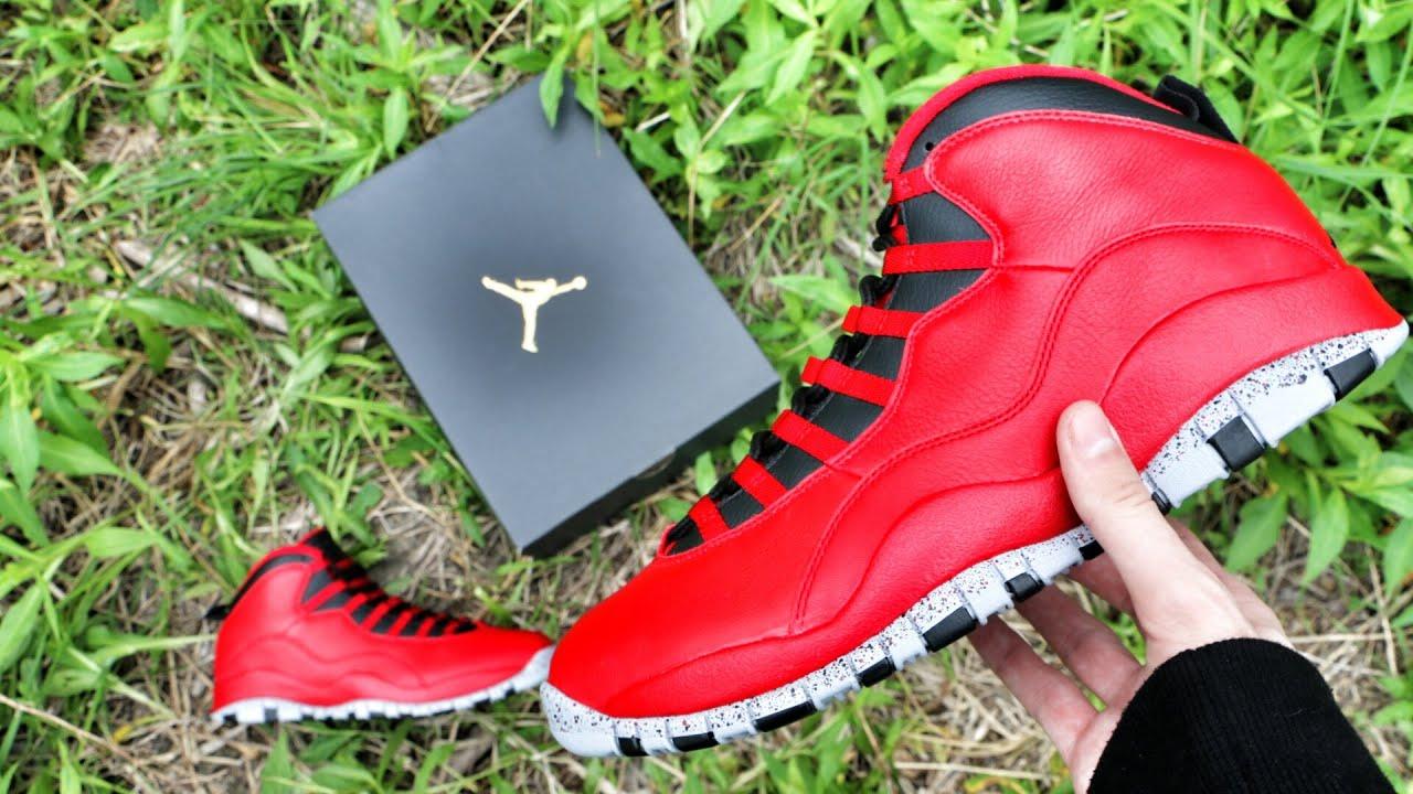 f886e6c876f1d5 Air Jordan 10 Bulls Over Broadway - Review + On Foot - YouTube