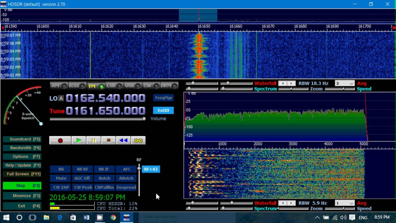 Montreal Quebec Coast Guard radio on VHF using RTL SDR and HDSDR software  by Officialvhfuhfchannel