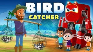 Supercar Rikki Chases the bird catcher in the Jungle | Kids Cars Cartoon Story 02