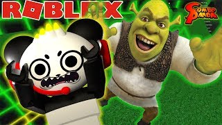 ESCAPE EVIL SHREK IN ROBLOX! Let's Play Shrek The Force Awakens with Combo Panda