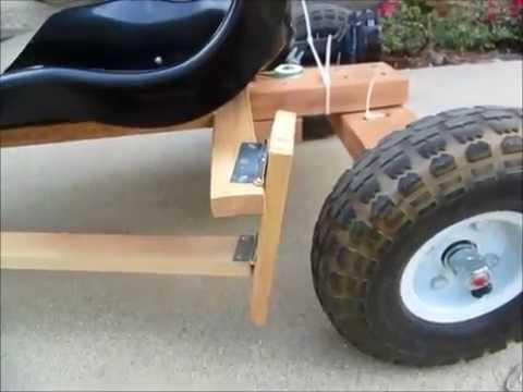 Diy Go Kart Powered By Drill Motor Detail Youtube