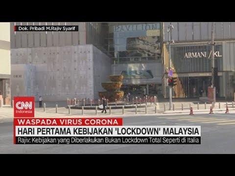 Hari Pertama Kebijakan 'Lockdown' Malaysia