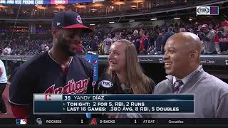 Indians' Yandy Diaz: 'Never in my life have I had so many wins in a row'